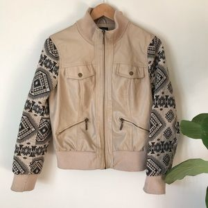 New Look | Faux Tanned Leather Jacket Pattern